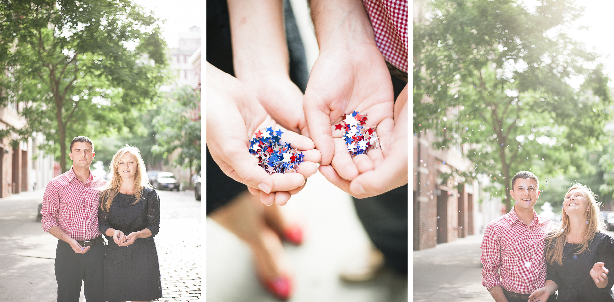 July 4th Engagement Session New York City Glitter