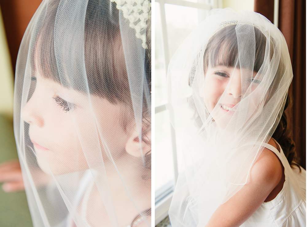Albany NY Farm Wedding Flower Girl Veil