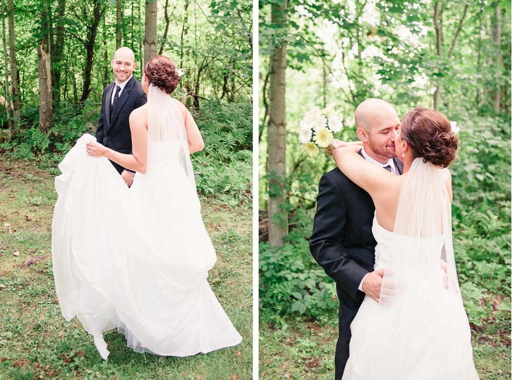 Albany NY Farm Wedding First Look