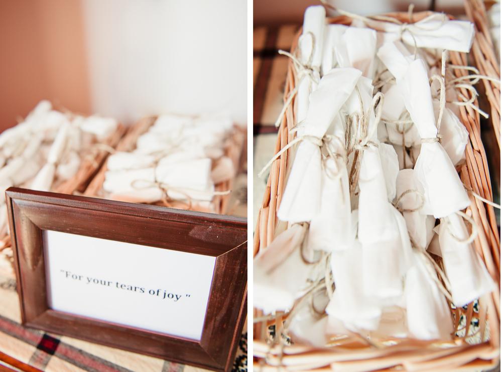 Albany NY Farm Wedding Tissues for Tears