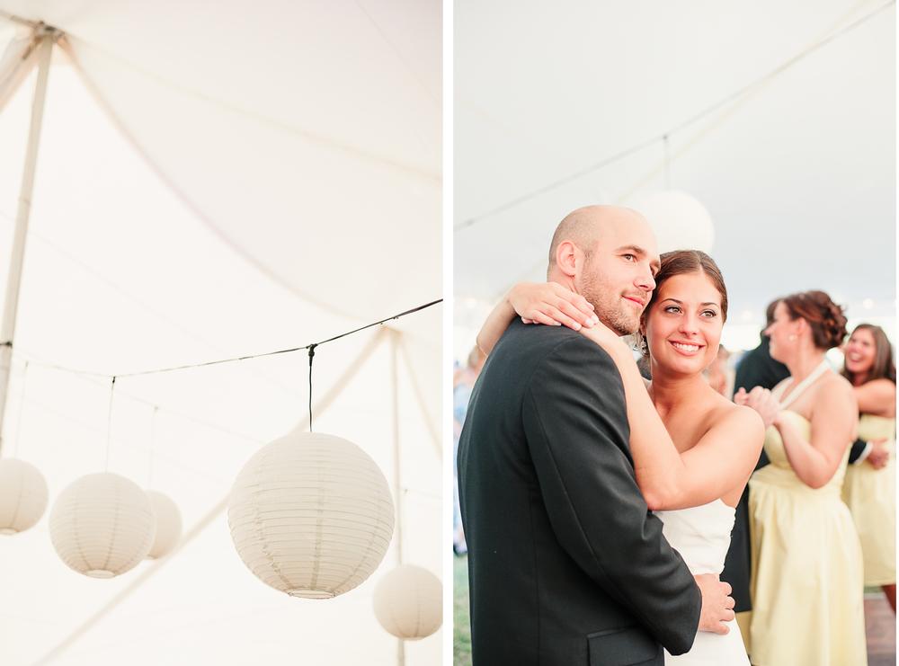 Albany NY Farm Wedding Lanterns Tent
