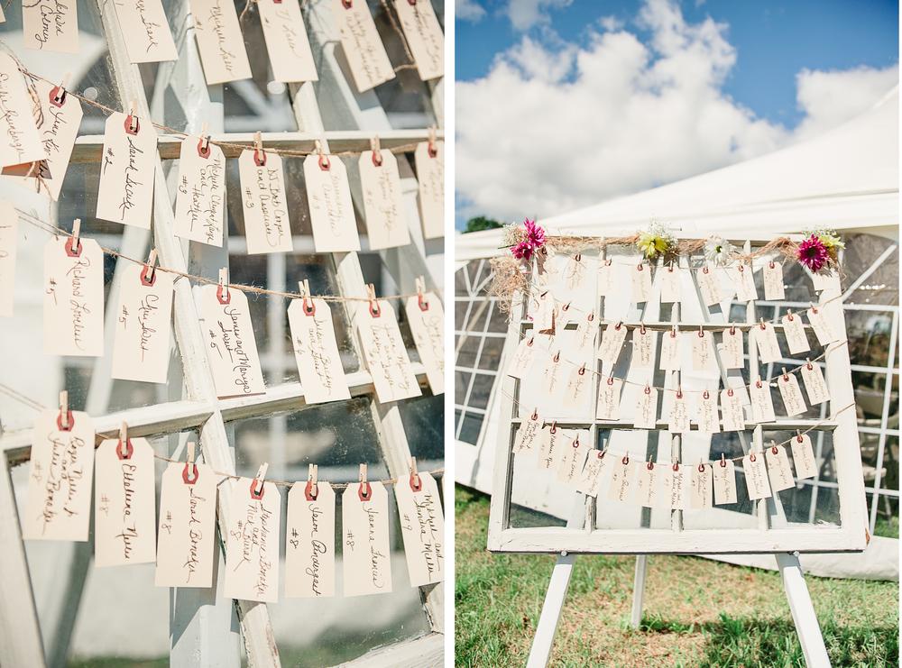 Albany NY Farm Wedding Windows Seating Arrangement