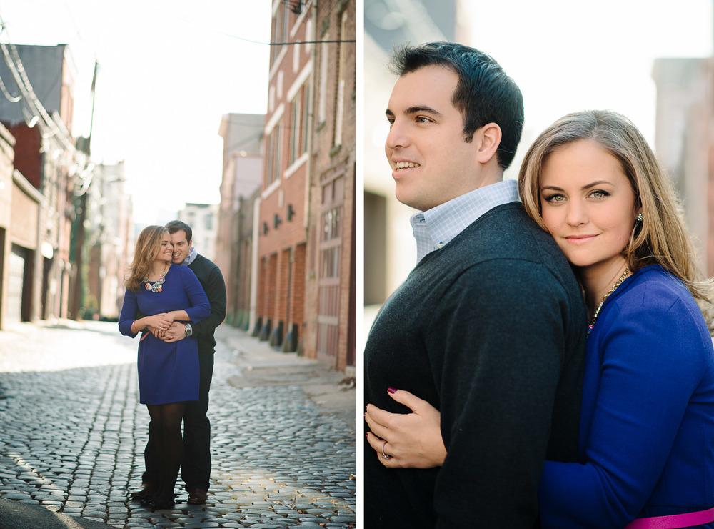 Hoboken Engagement Session Photography Cobblestone Street
