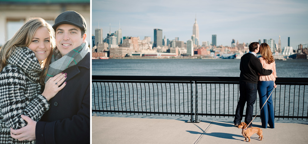 Hoboken Engagement Session Photography NYC skyline