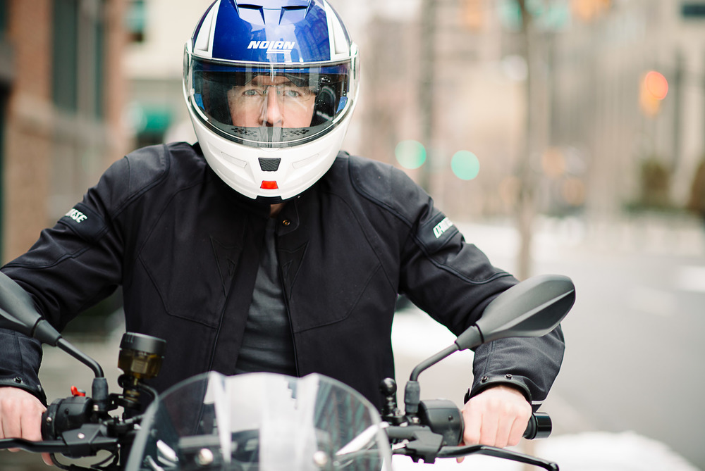 Helmut GQ Style Mens Portrait Jersey City New York City Motorcycle