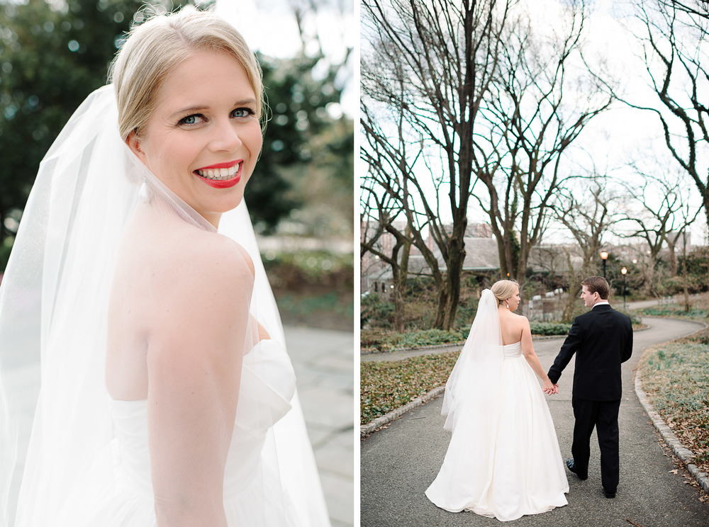 Fort Tryon Park New Leaf Restaurant Wedding Photo