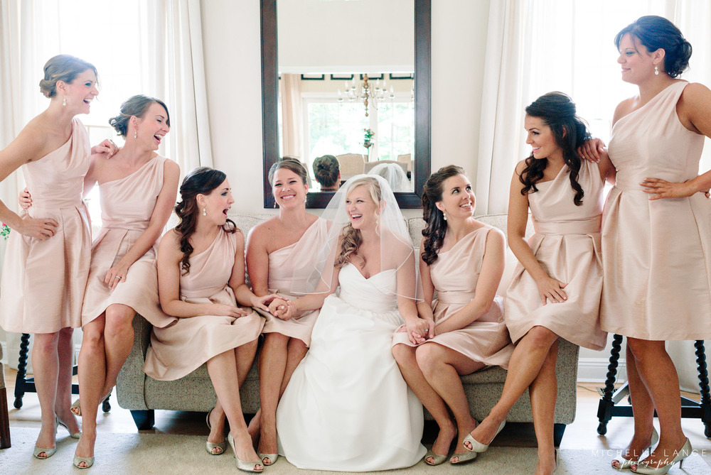 Pink Bridesmaid Dresses Aqua Turf Club Plantsville CT Wedding by Michelle Lange Photography 12
