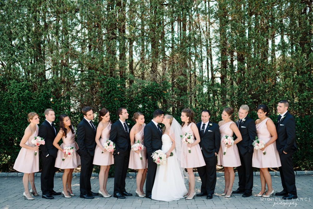 Pink Bridesmaid Dresses Aqua Turf Club Wedding by Michelle Lange Photography 20