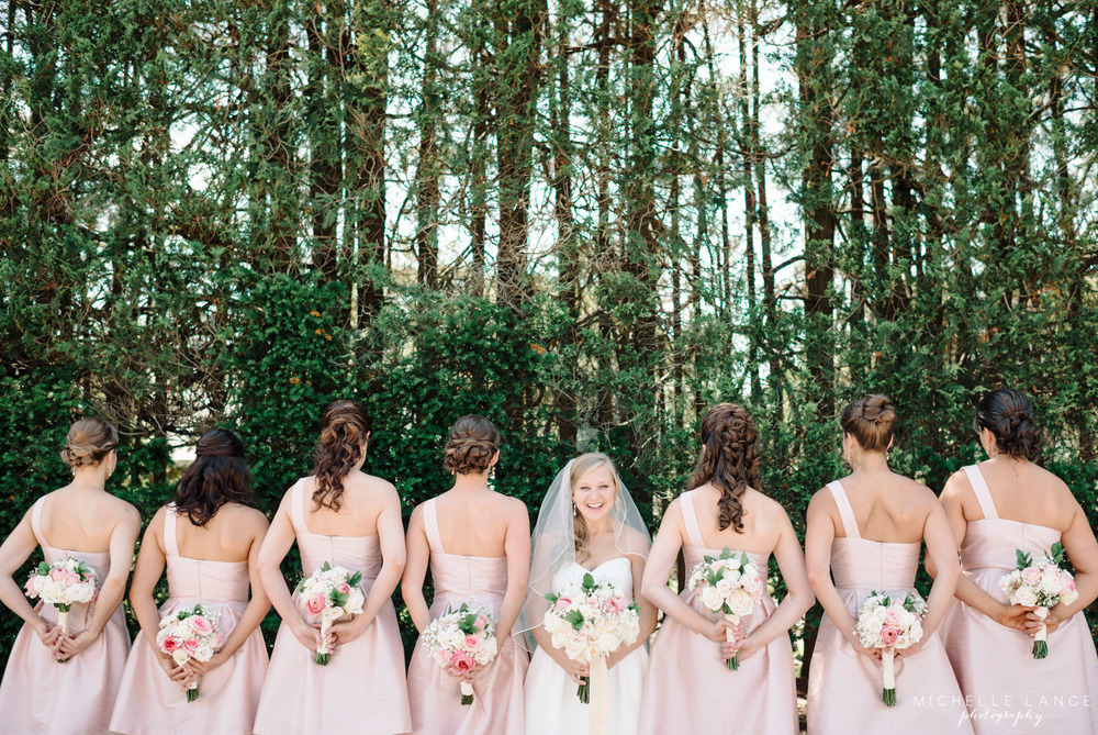 Blush Pink Bridesmaid Dresses Aqua Turf Club Plantsville CT Wedding by Michelle Lange Photography  21