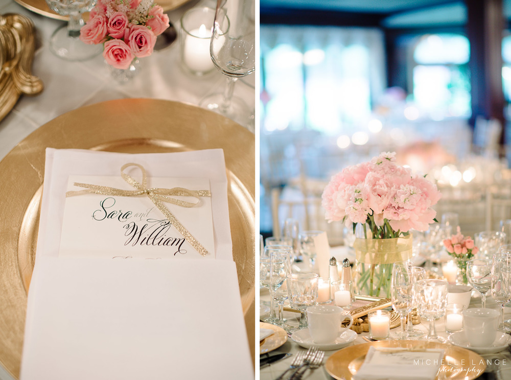 Pink and Gold Menu Aqua Turf Club Wedding by Michelle Lange Photography 31