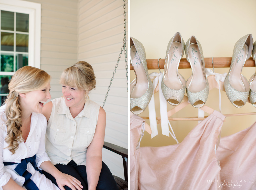 Marc Fisher Gold Sparkle Bridesmaid Shoes Aqua Turf Club Plantsville CT Wedding by Michelle Lange Photography 3