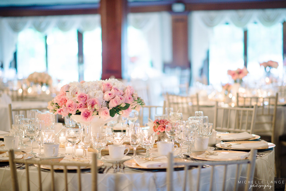 Pink and Gold Aqua Turf Club Plantsville CT Wedding by Michelle Lange Photography 32