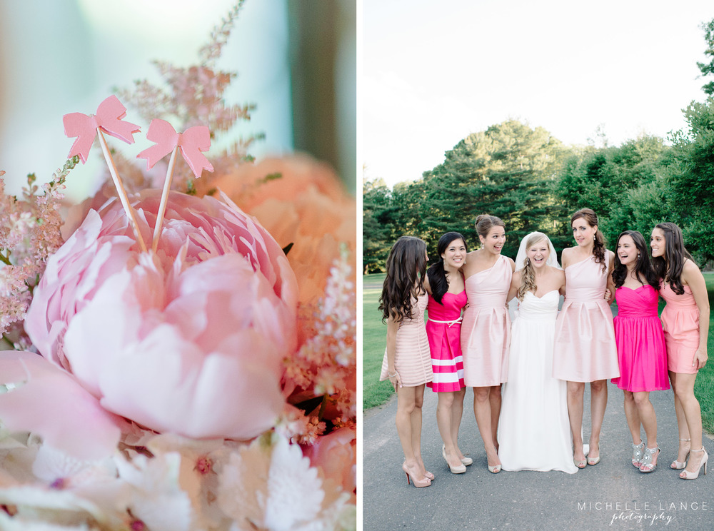 Aqua Turf Club Plantsville CT Pink Bow Wedding by Michelle Lange Photography 39