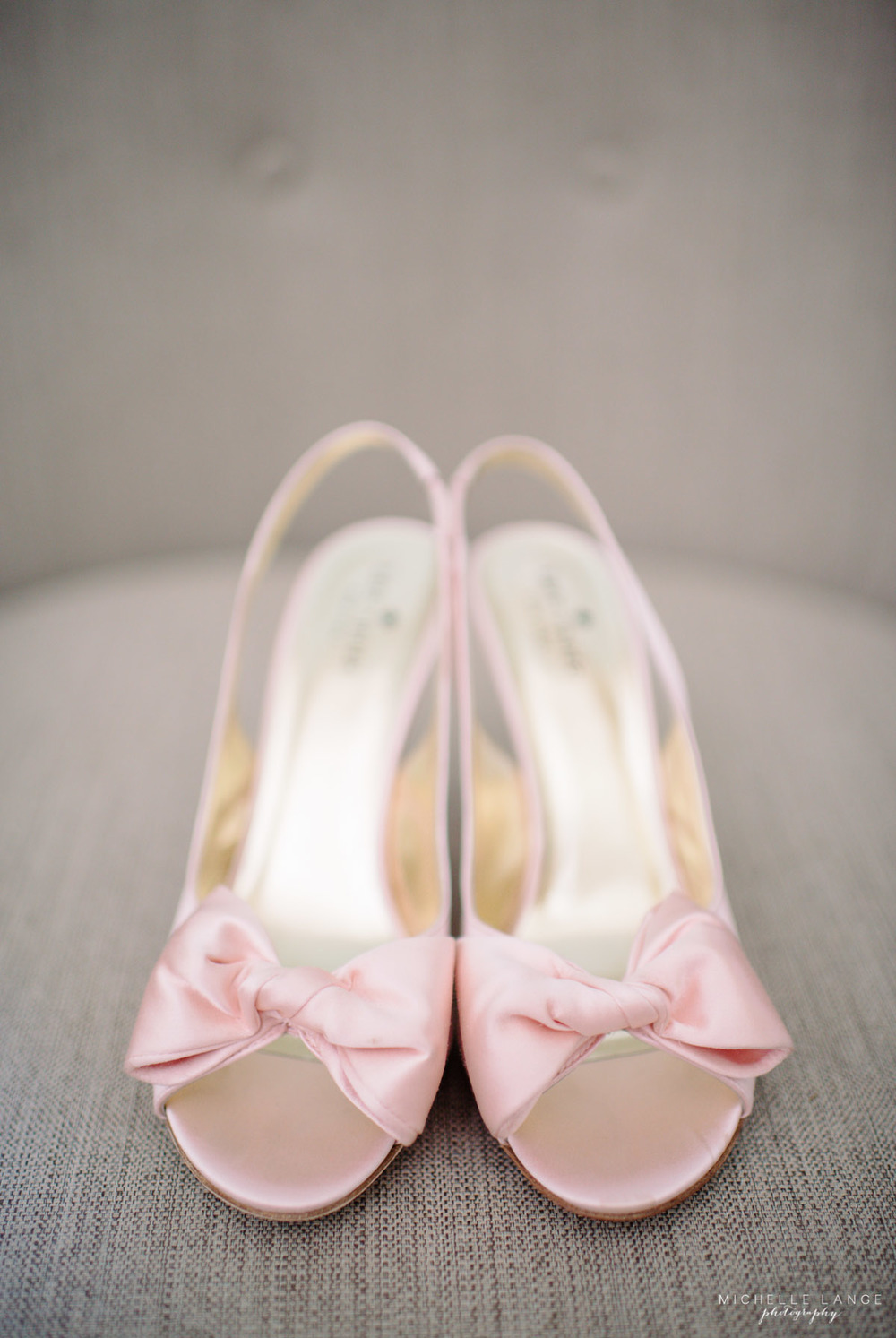 Kate Spade Blush Pink Bow Wedding Shoes Aqua Turf Club Plantsville CT Wedding by Michelle Lange Photography 46