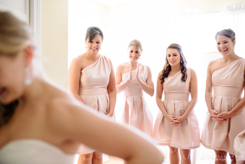Pink Bridesmaid Dresses Aqua Turf Club Plantsville CT Wedding by Michelle Lange Photography 8