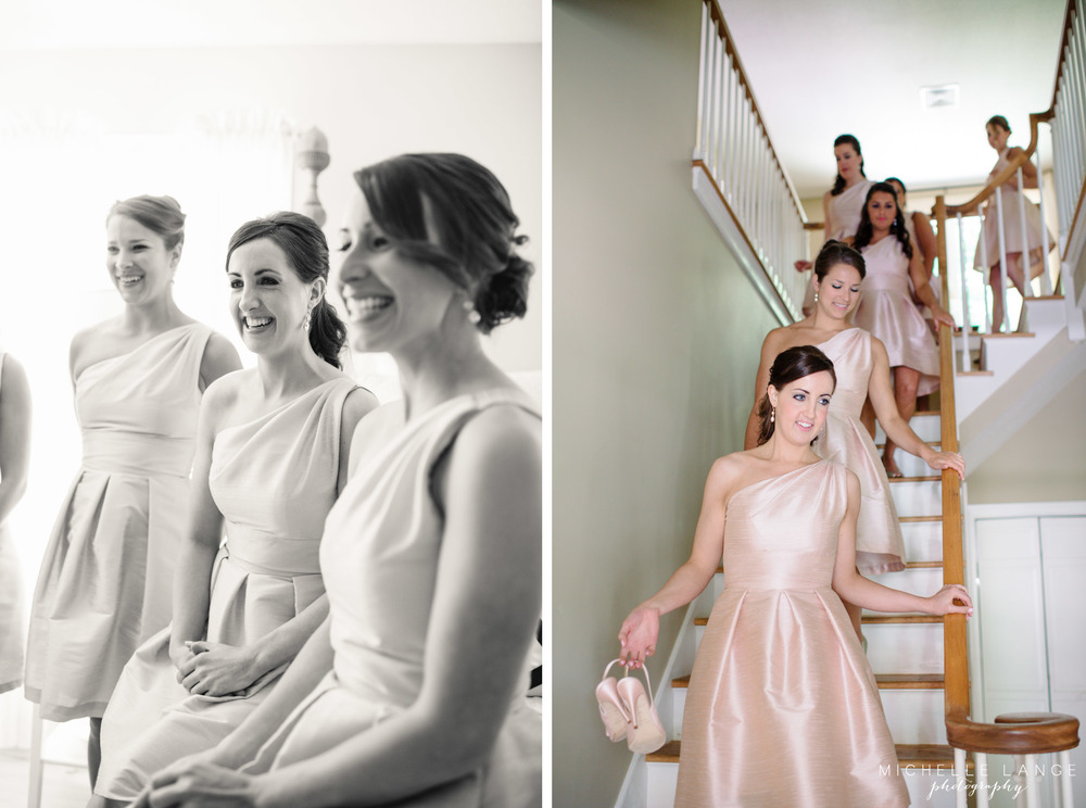 Pink Bridesmaid Dresses Aqua Turf Club Plantsville CT Wedding by Michelle Lange Photography 9