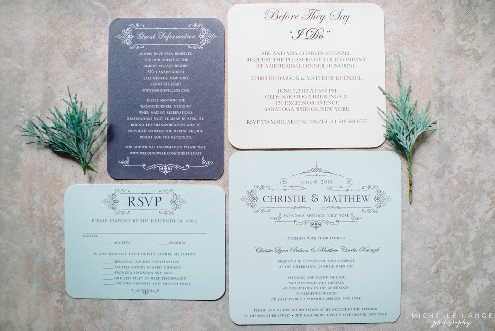Inn at Erlowest Lake George Coral and Teal Wedding by Michelle Lange Photography 1
