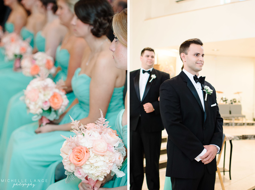 Inn at Erlowest Lake George Coral and Teal Wedding by Michelle Lange Photography 12