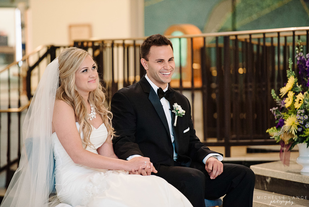 Inn at Erlowest Lake George Coral and Teal Wedding by Michelle Lange Photography 15