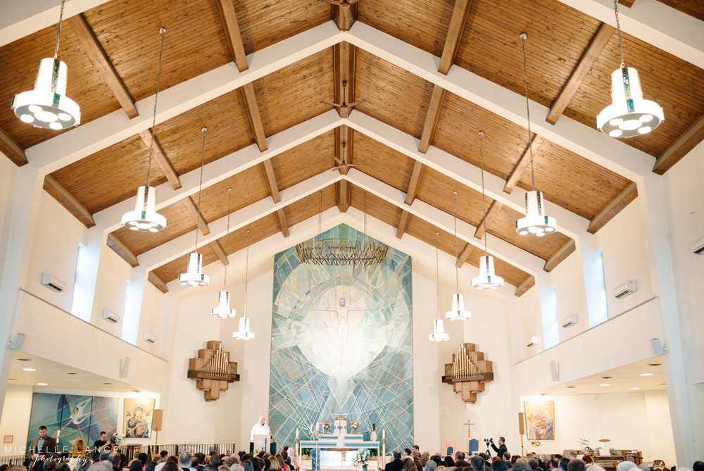 Inn at Erlowest Lake George Coral and Teal Wedding by Michelle Lange Photography 14