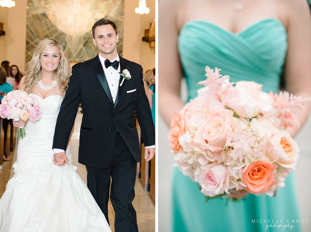 Inn at Erlowest Lake George Coral and Teal Wedding by Michelle Lange Photography17