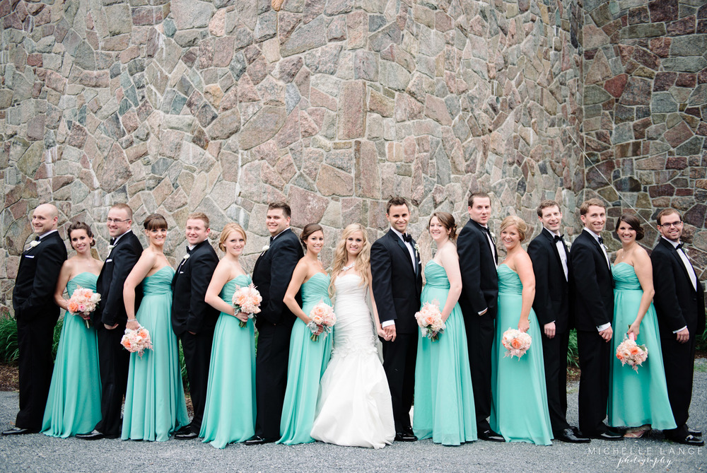 Inn at Erlowest Lake George Coral and Teal Wedding by Michelle Lange Photography19