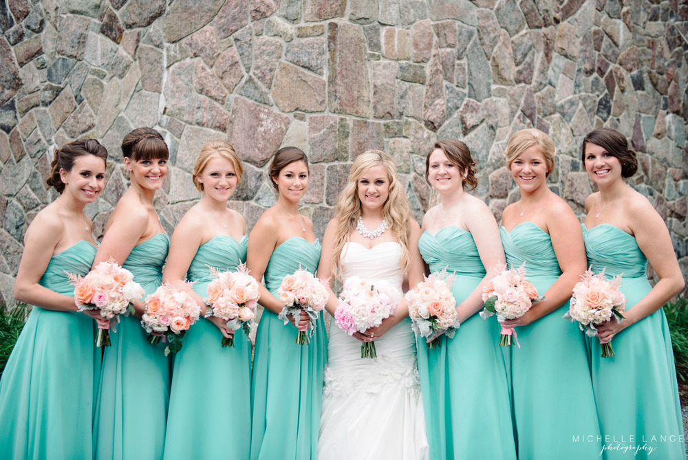 Inn at Erlowest Lake George Coral and Teal Wedding by Michelle Lange Photography 20