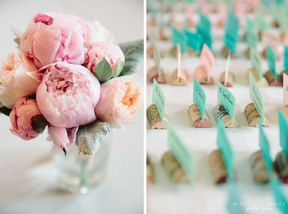 Inn at Erlowest Lake George Coral and Teal Wedding by Michelle Lange Photography 24