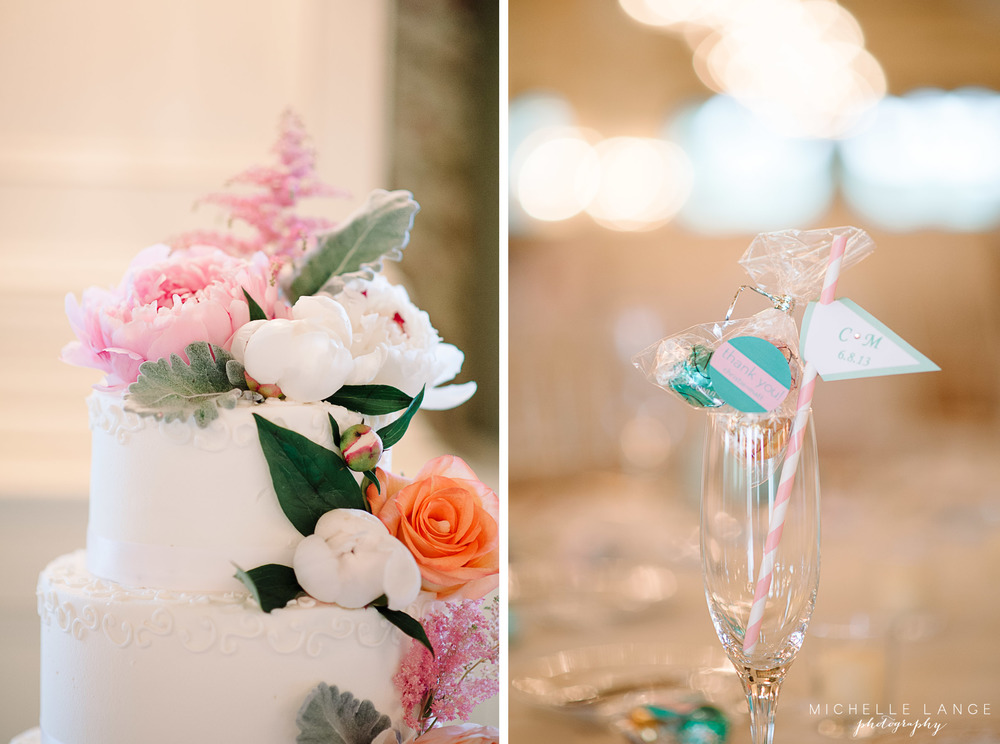 Inn at Erlowest Lake George Coral and Teal Wedding by Michelle Lange Photography 25