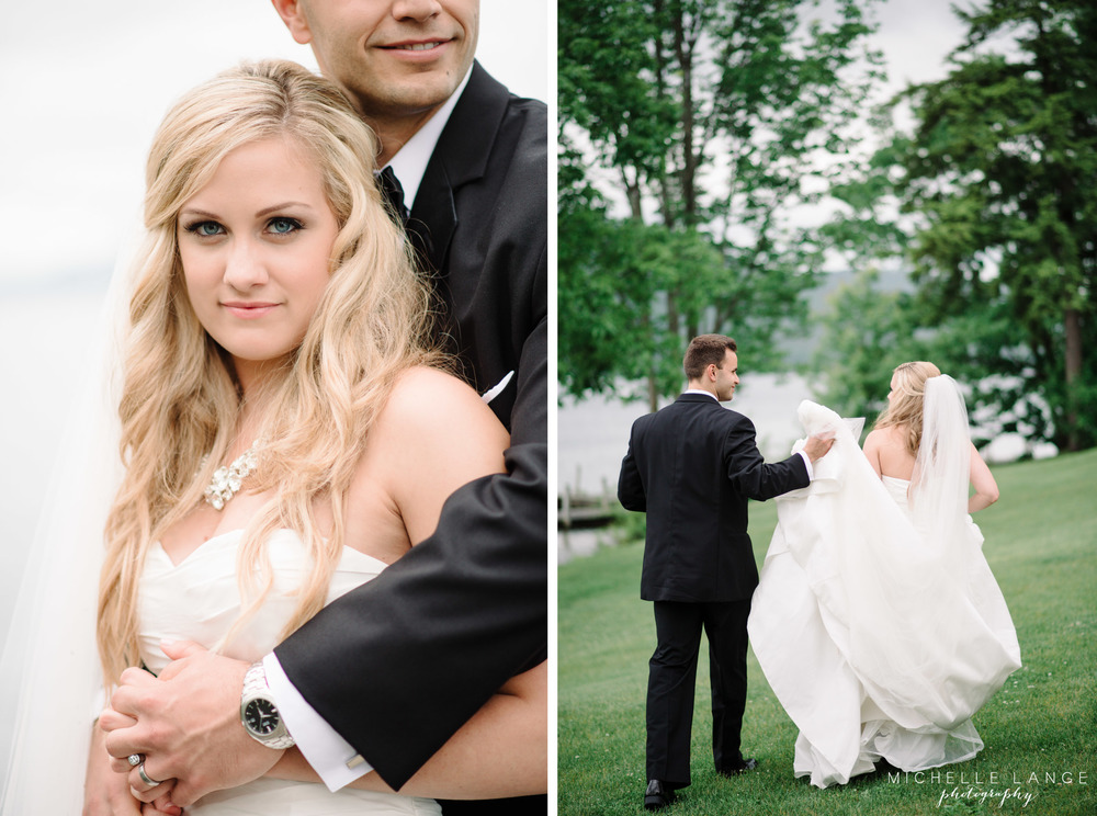 Inn at Erlowest Lake George Coral and Teal Wedding by Michelle Lange Photography 26