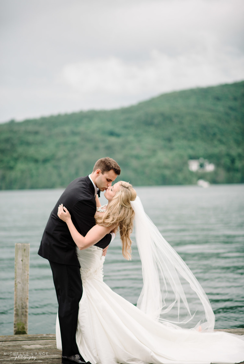 Inn at Erlowest Lake George Coral and Teal Wedding by Michelle Lange Photography 29
