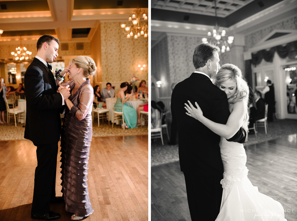 Inn at Erlowest Lake George Coral and Teal Wedding by Michelle Lange Photography 37