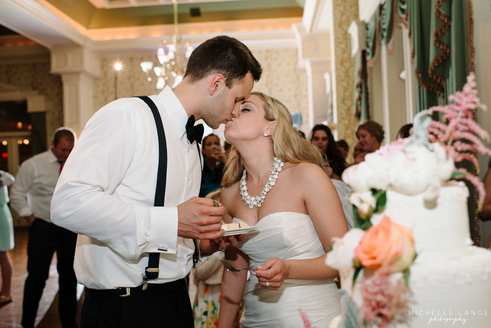 Inn at Erlowest Lake George Coral and Teal Wedding by Michelle Lange Photography 39