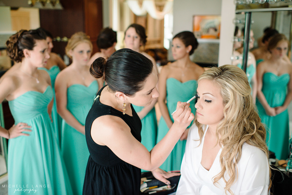 Inn at Erlowest Lake George Coral and Teal Wedding by Michelle Lange Photography 8
