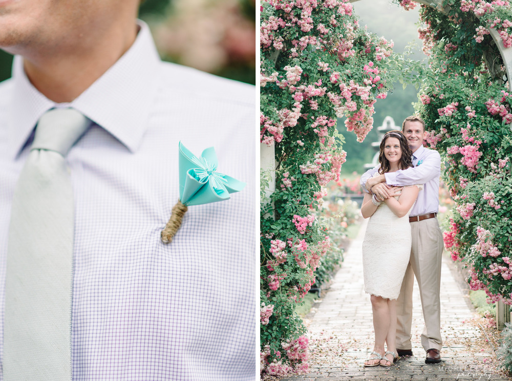 Schenectady Rose Garden Paper Flower Anniversary Session | Michelle Lange Photography