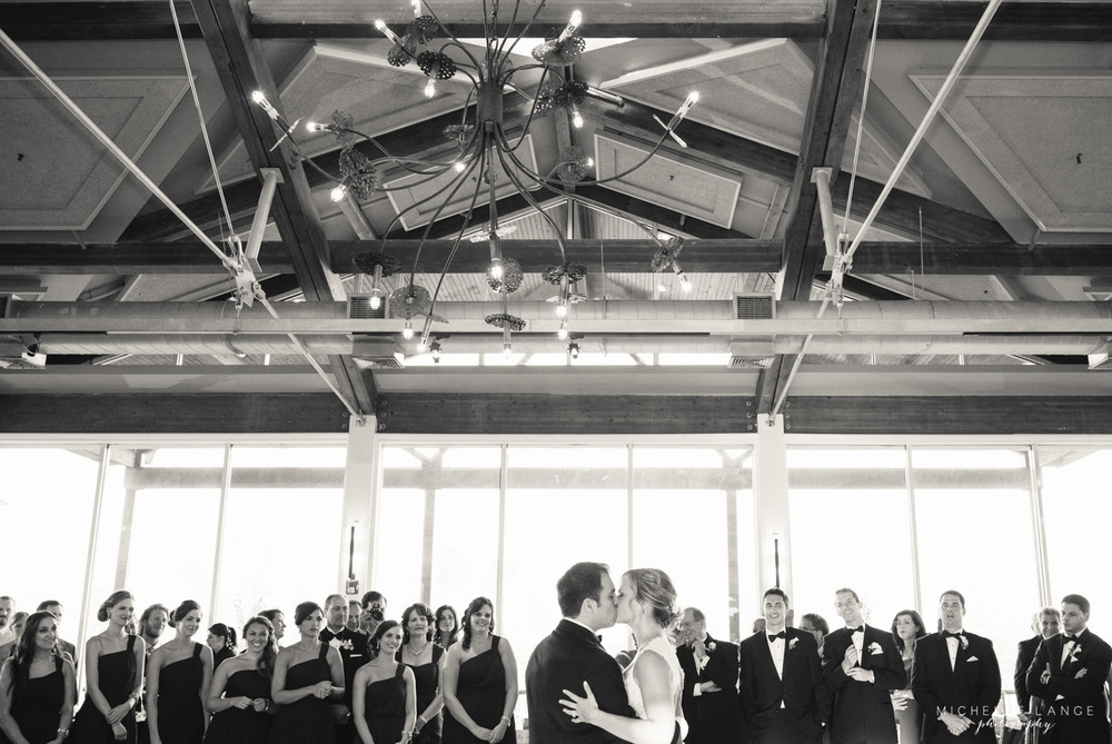 First Dance with Bridal Party Liberty House Jersey City Wedding.jpg