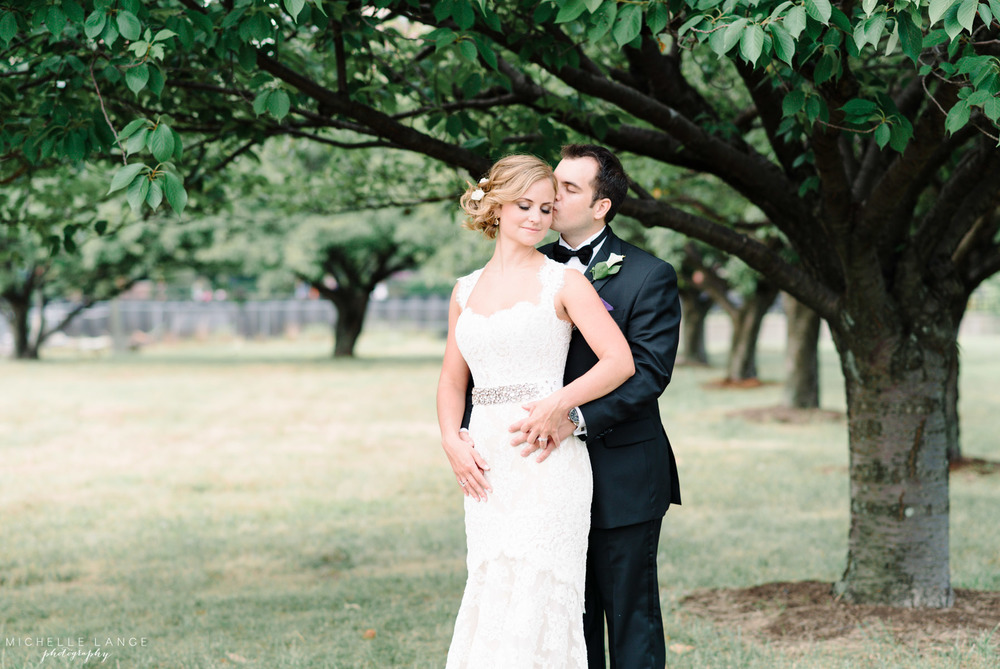 Bride and Groom Anne Barge Collection Trees Liberty House Jersey City Wedding.jpg