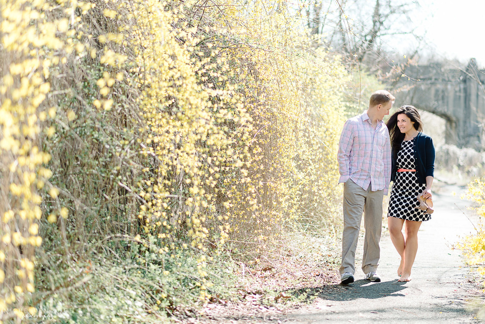 Amy & Dennis' Branch Brook Park Engagement (with Cherry Blossoms!)