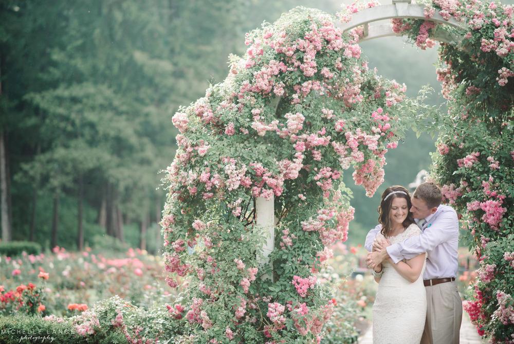 Kristin & Dave's Schenectady Rose Garden Anniversary