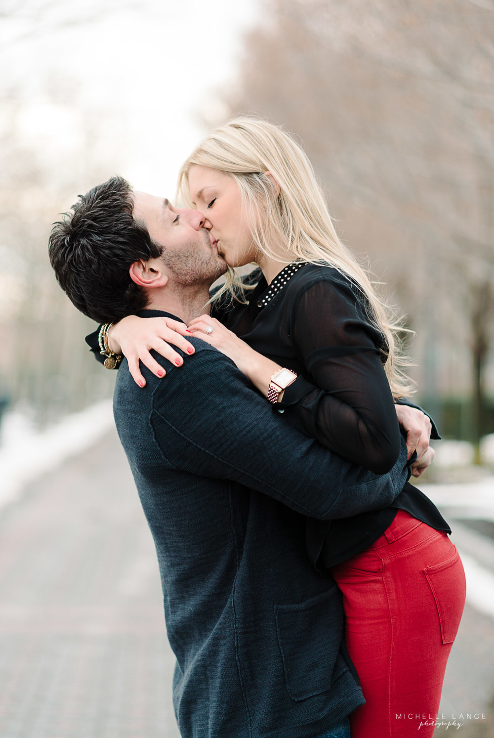 Jillian & Joseph's Hoboken Waterfront Engagement