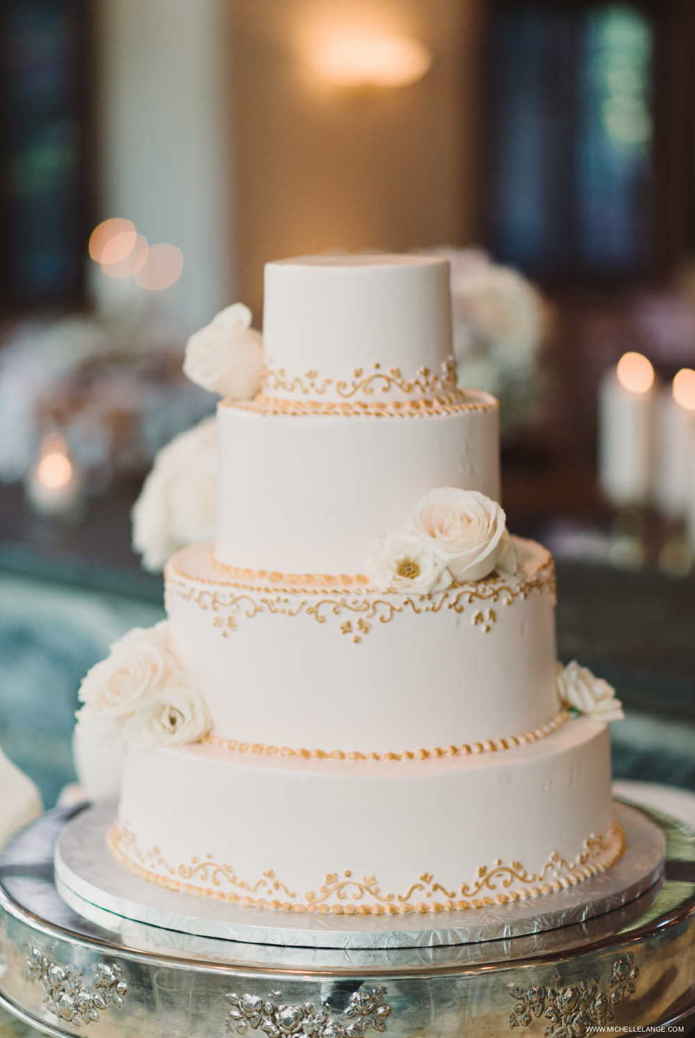 Champagne Wedding Cake Wedding Photographer