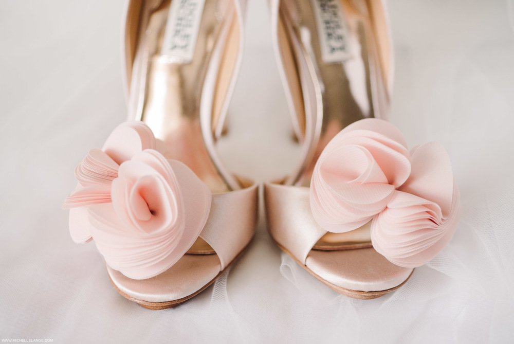 Badgley Mischka Pink Wedding Shoes