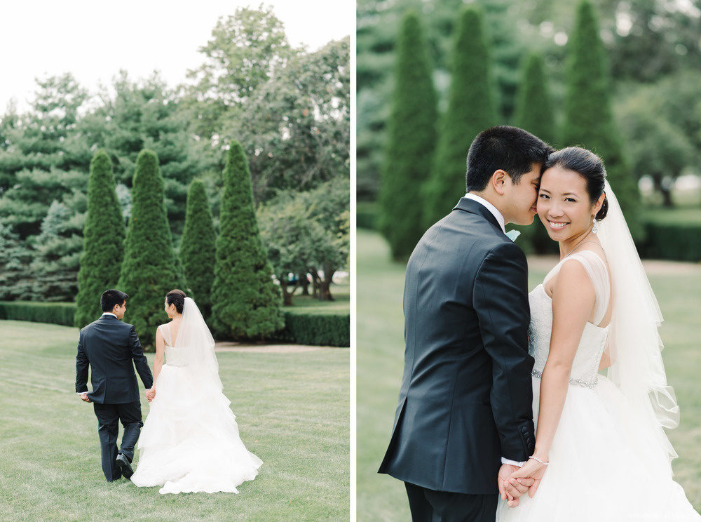 Bride and Groom Garden The Carltun New York Wedding Photographer