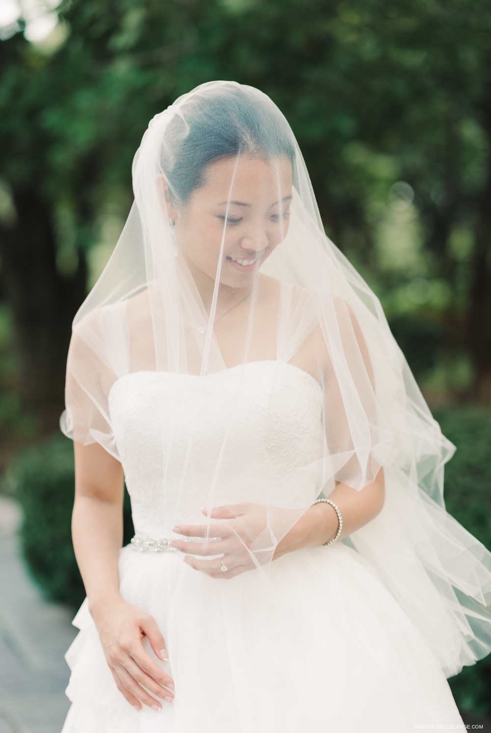 Bride with Blusher Veil at The Carltun in Long Island