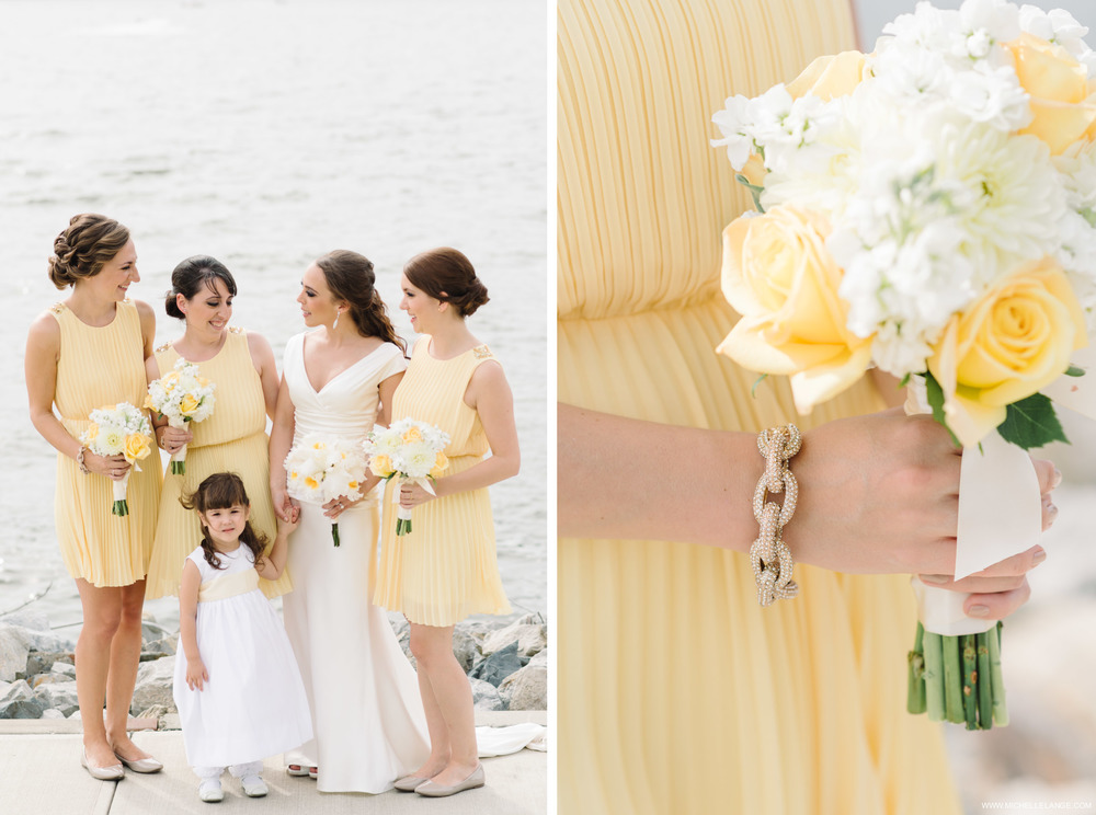 Yellow Bridesmaid Dresses New York Wedding Photographer