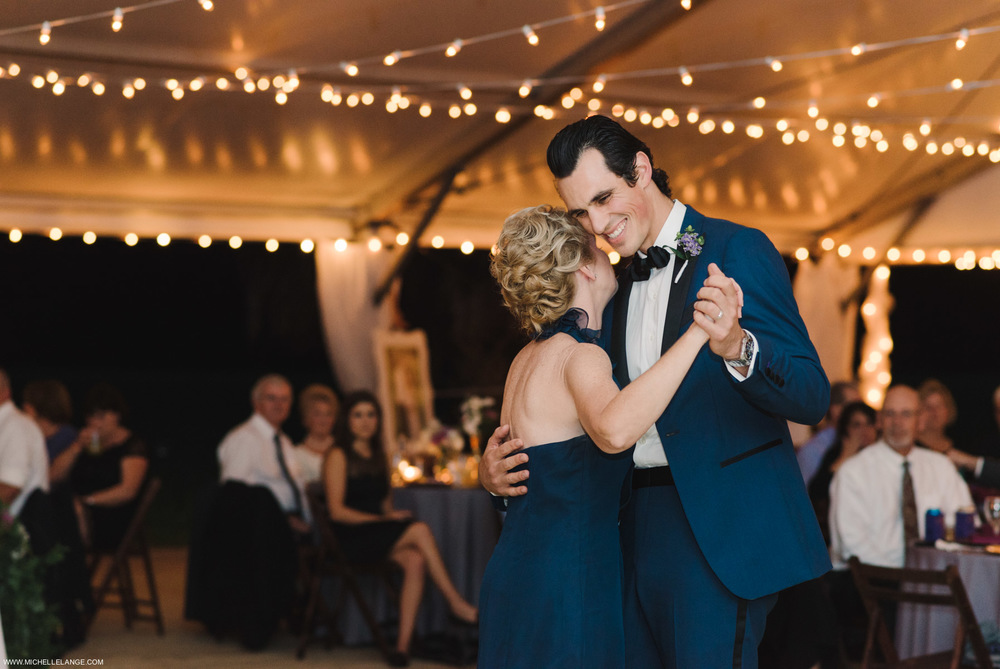 Tented Mother Son Dance Charleston Runnymede Plantation Wedding