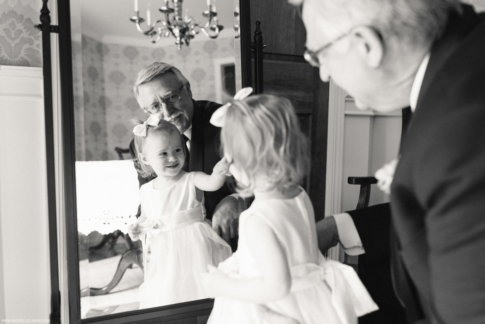 Flower Girl and Grandfather Riverhouse at Rumson Country Club Wedding