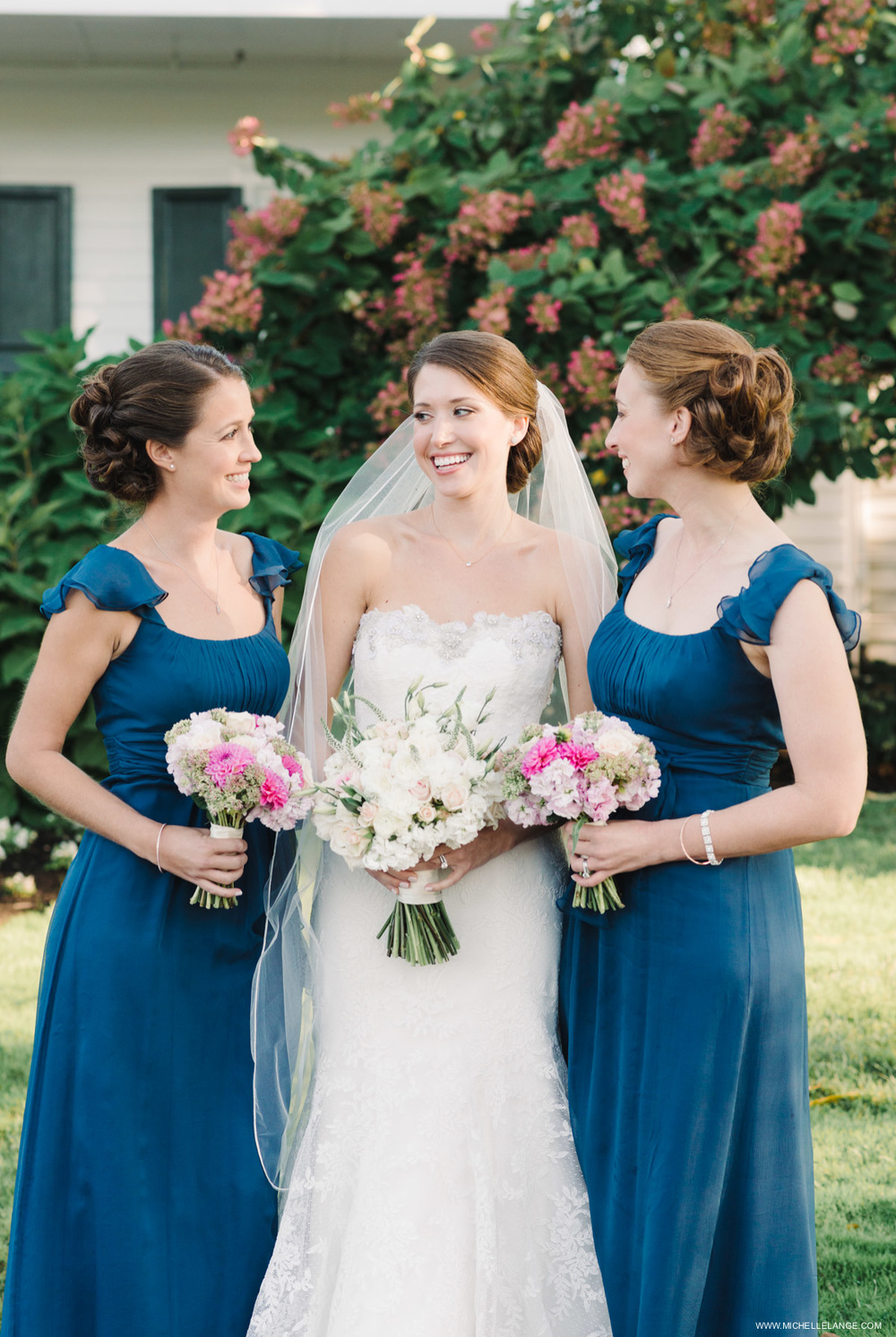 Navy Bridesmaids Riverhouse at Rumson Country Club Wedding