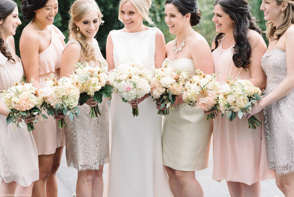 Flowers & Bridesmaids Brotherhood Winery Wedding