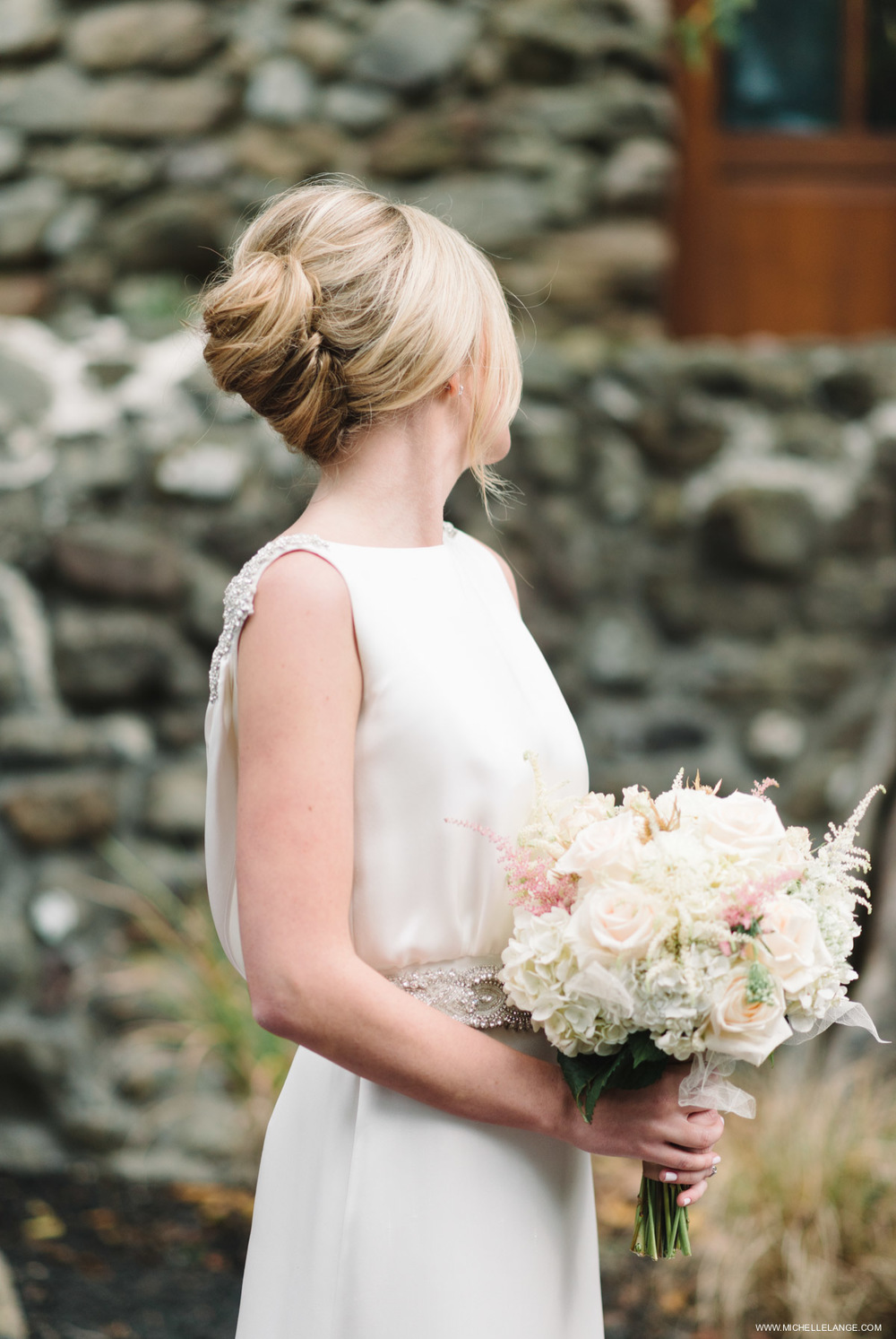 Bridal Hair Up-do Brotherhood Winery Wedding